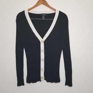 Women's Cable and Gage Button down Cardigan LARGE